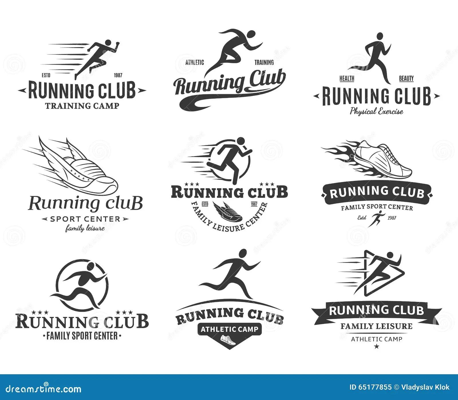 Active Fitness And Sport Logo Vector Set Design Vector