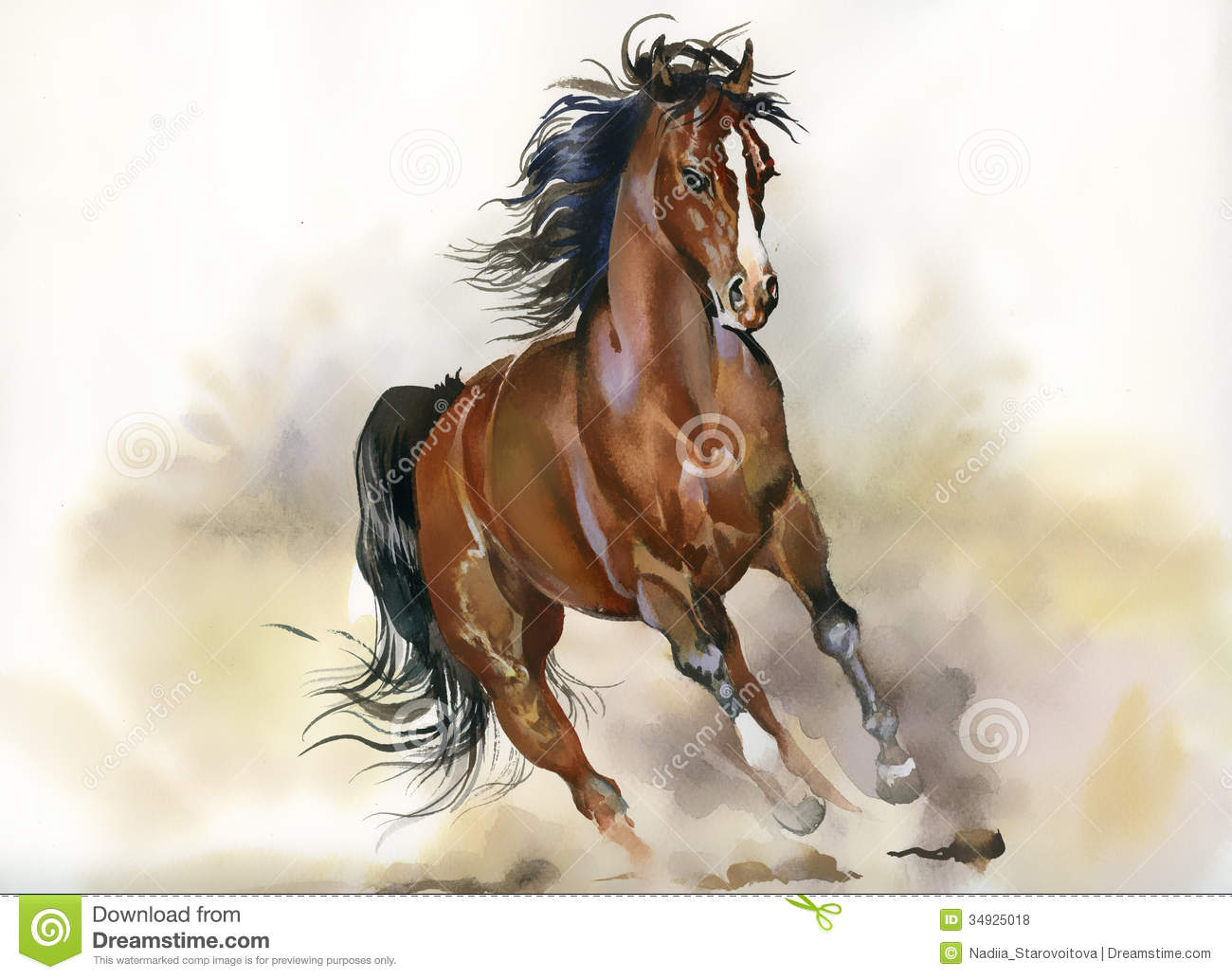 running horse royalty free stock photos - image: 34925018