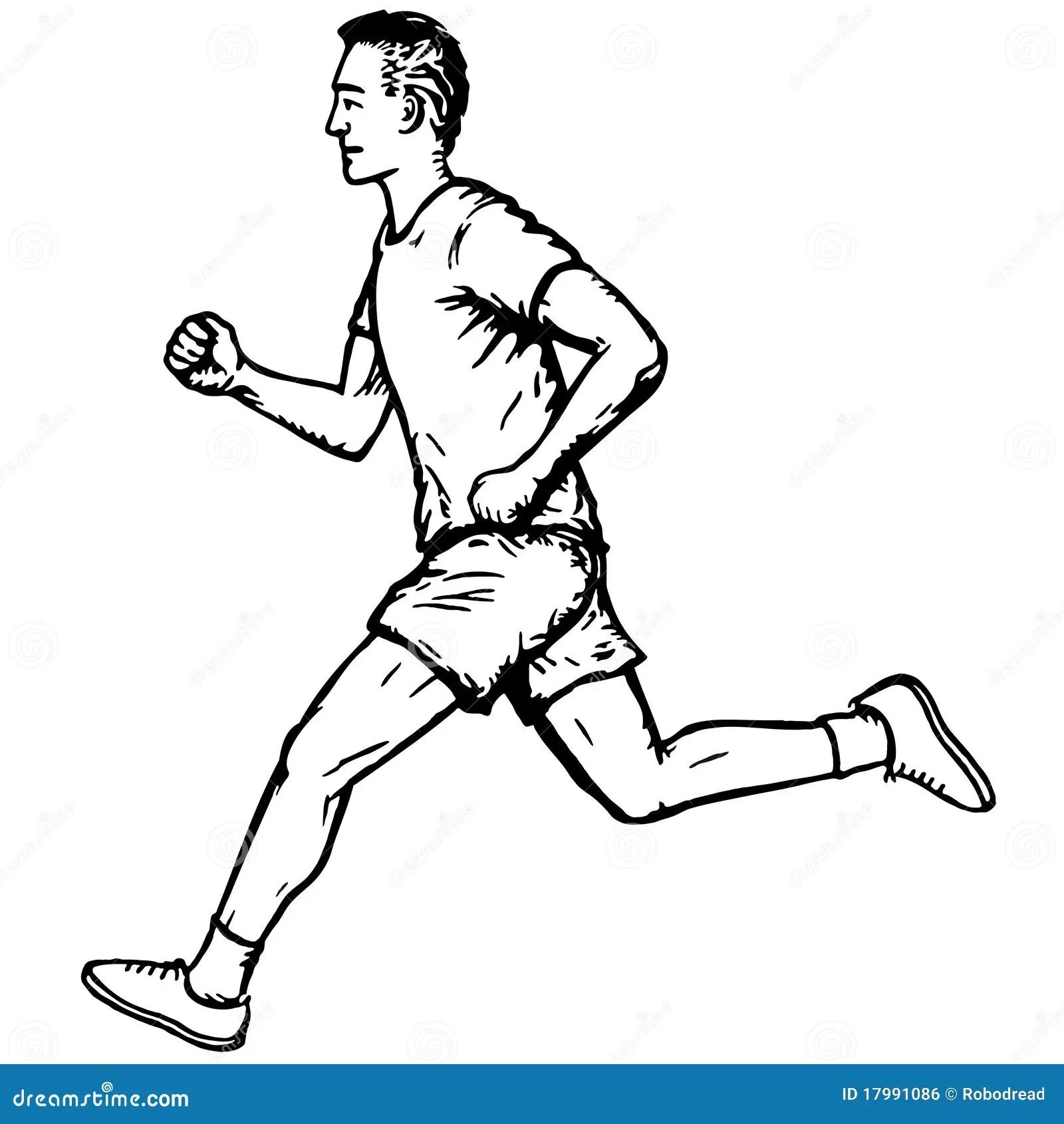 Running Man Stock Vector Illustration Of Fast Movement