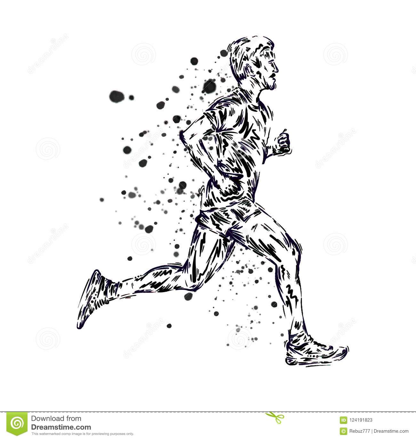 Running Marathon People Run Colorful Poster Vector