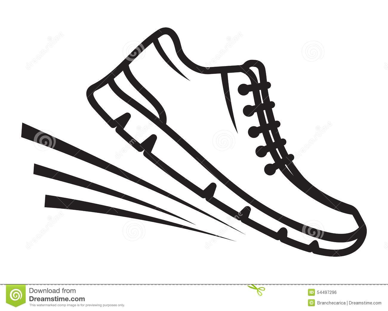 Running Shoes Icon Stock Illustration