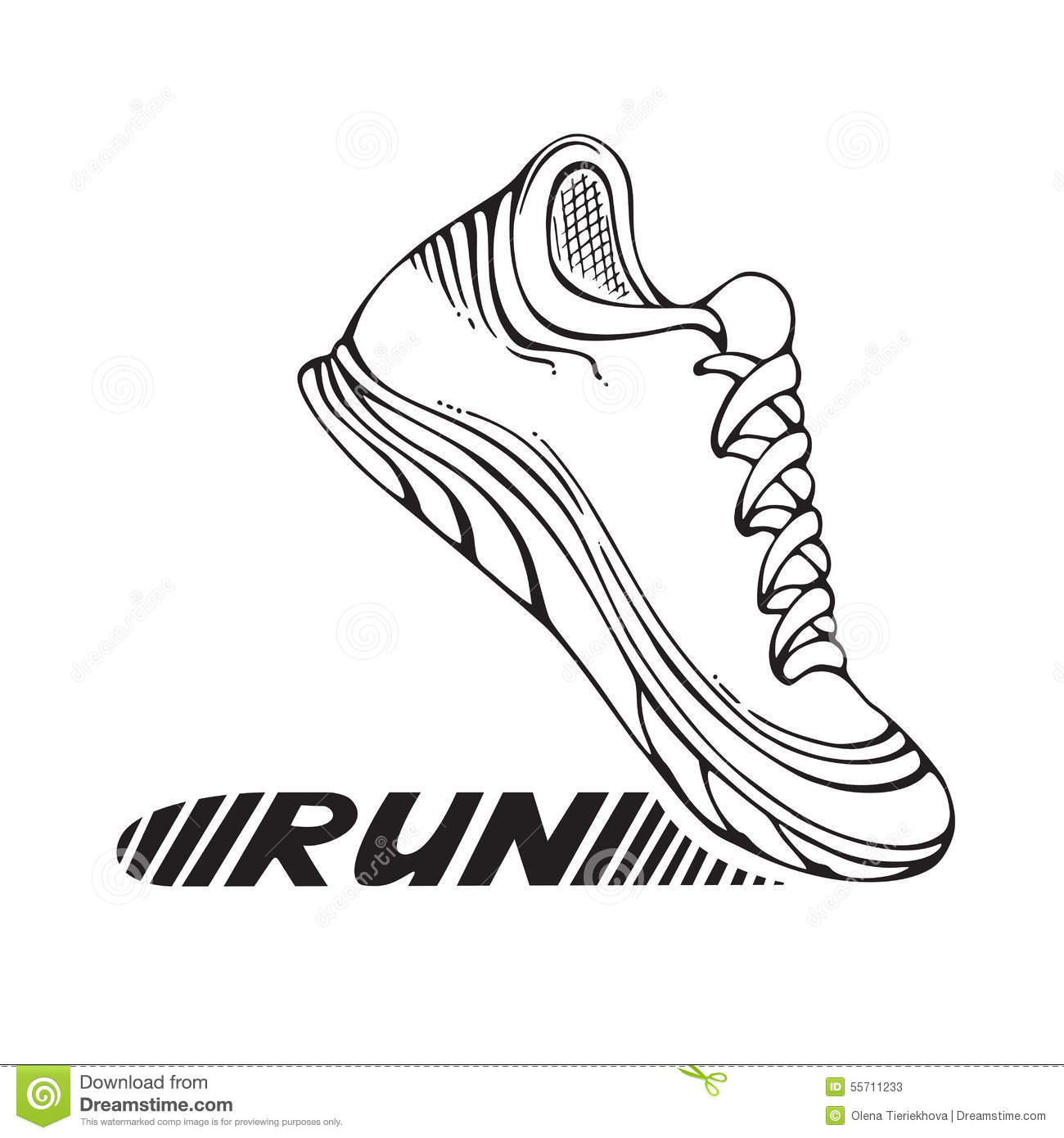 Running Sport Shoe Symbol Stock Vector Image Of Graphic
