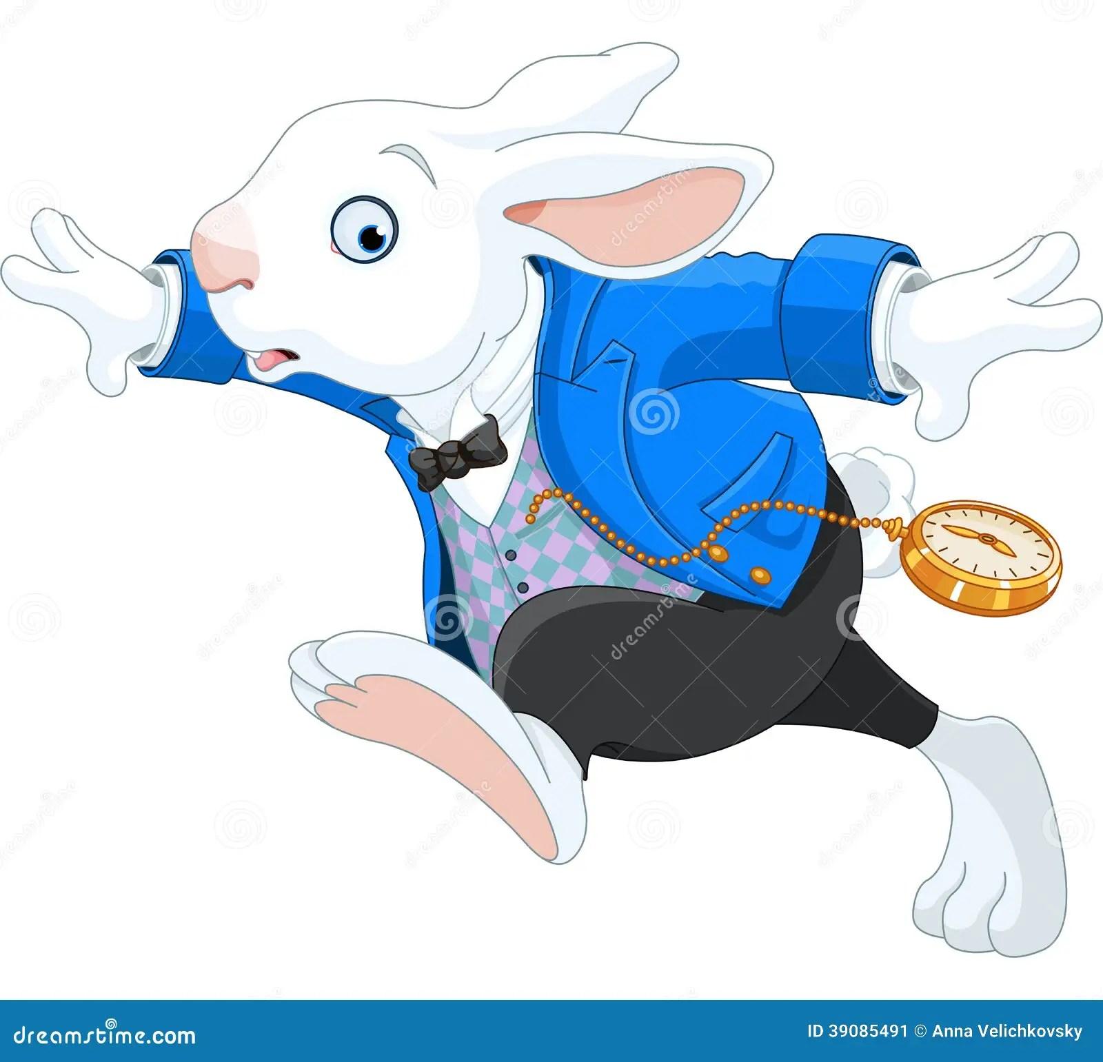Running White Rabbit Stock Vector Illustration Of White