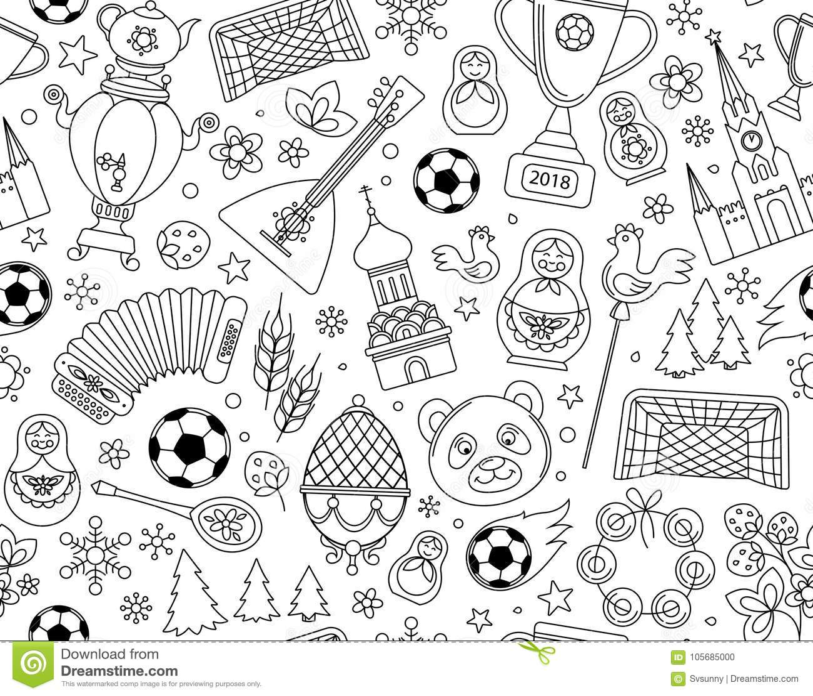 Russian World Cup Soccer Football Championship