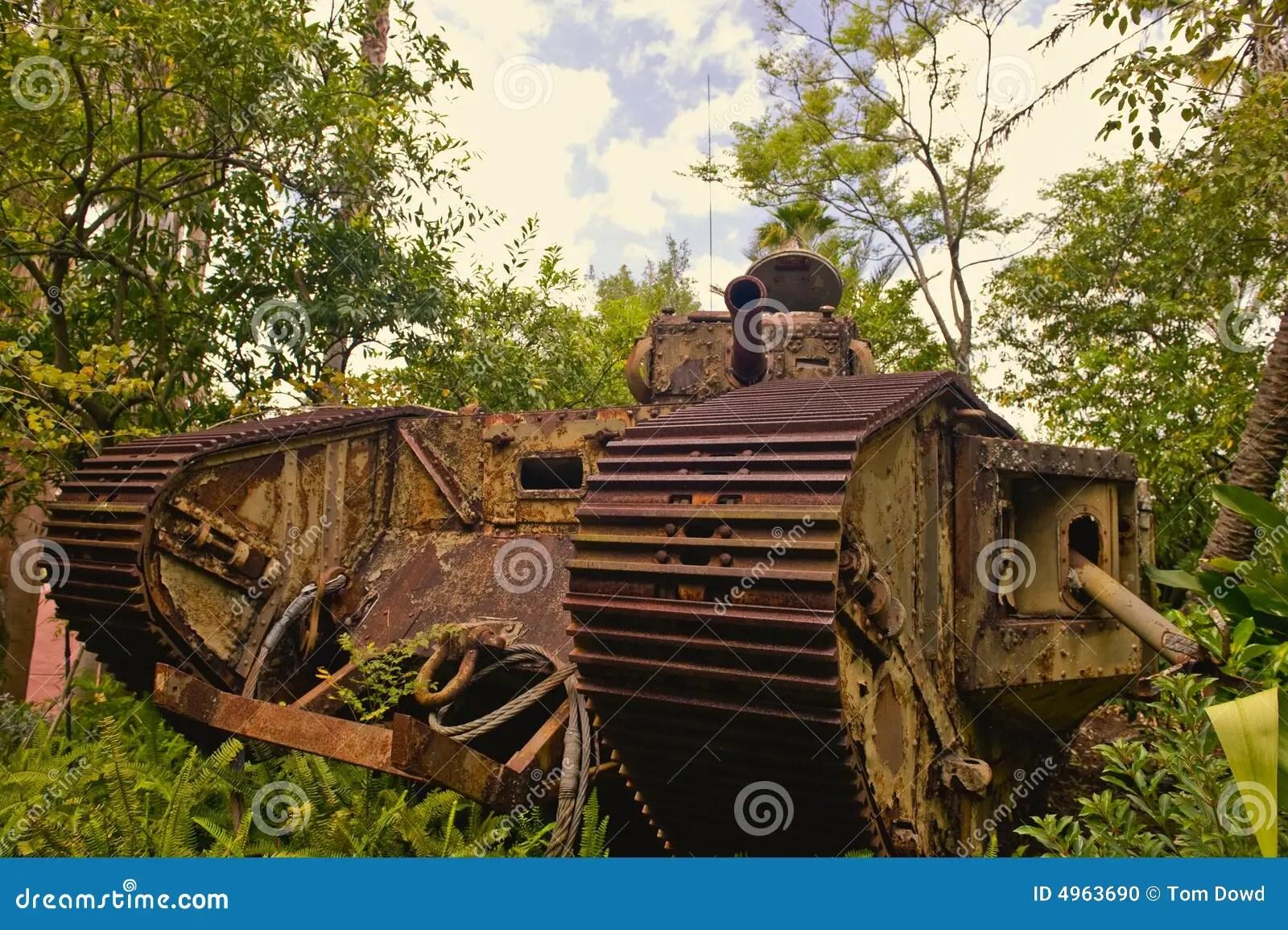 Rusty WWI German Tank Stock Photo Image 4963690