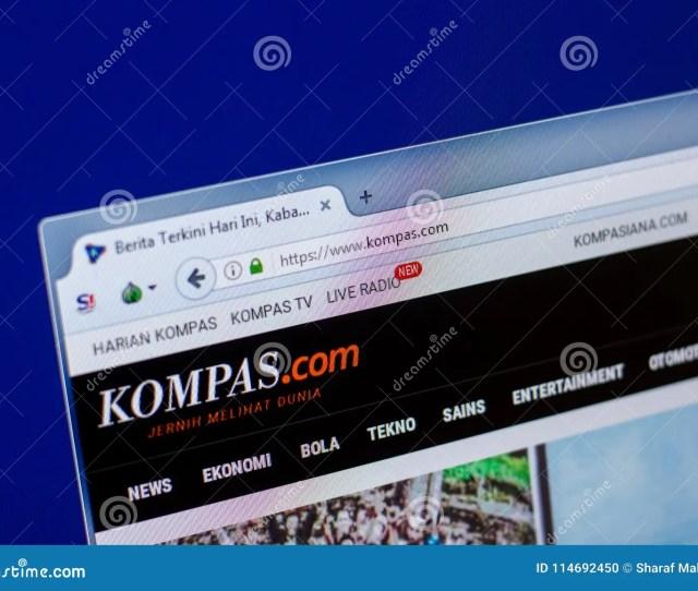 Ryazan Russia April   Homepage Of Kompas Website On