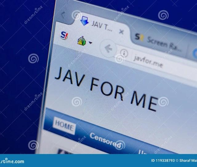 Ryazan Russia June   Homepage Of Javfor Website On The Display Of Pc Url Javfor Me