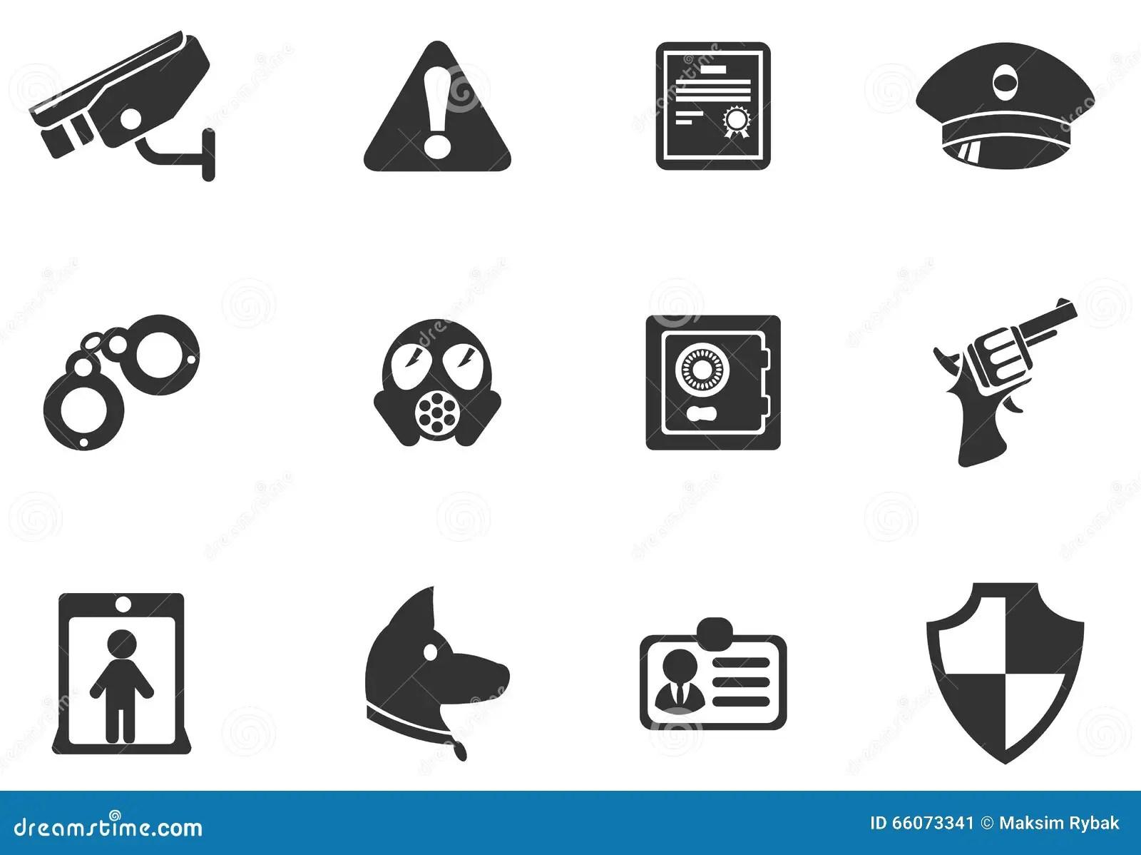 Simbolos De La Seguridad Ilustracion Del Vector