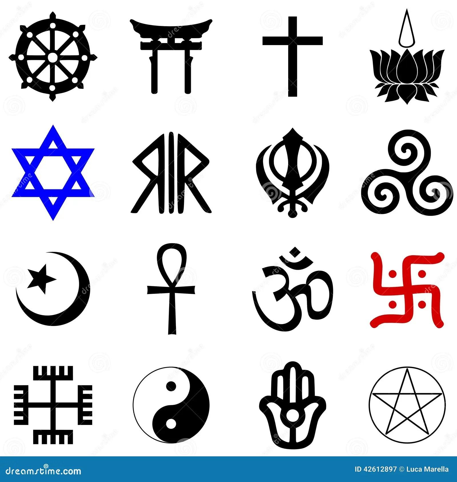 Simbolos De Las Religiones Ilustracion Del Vector