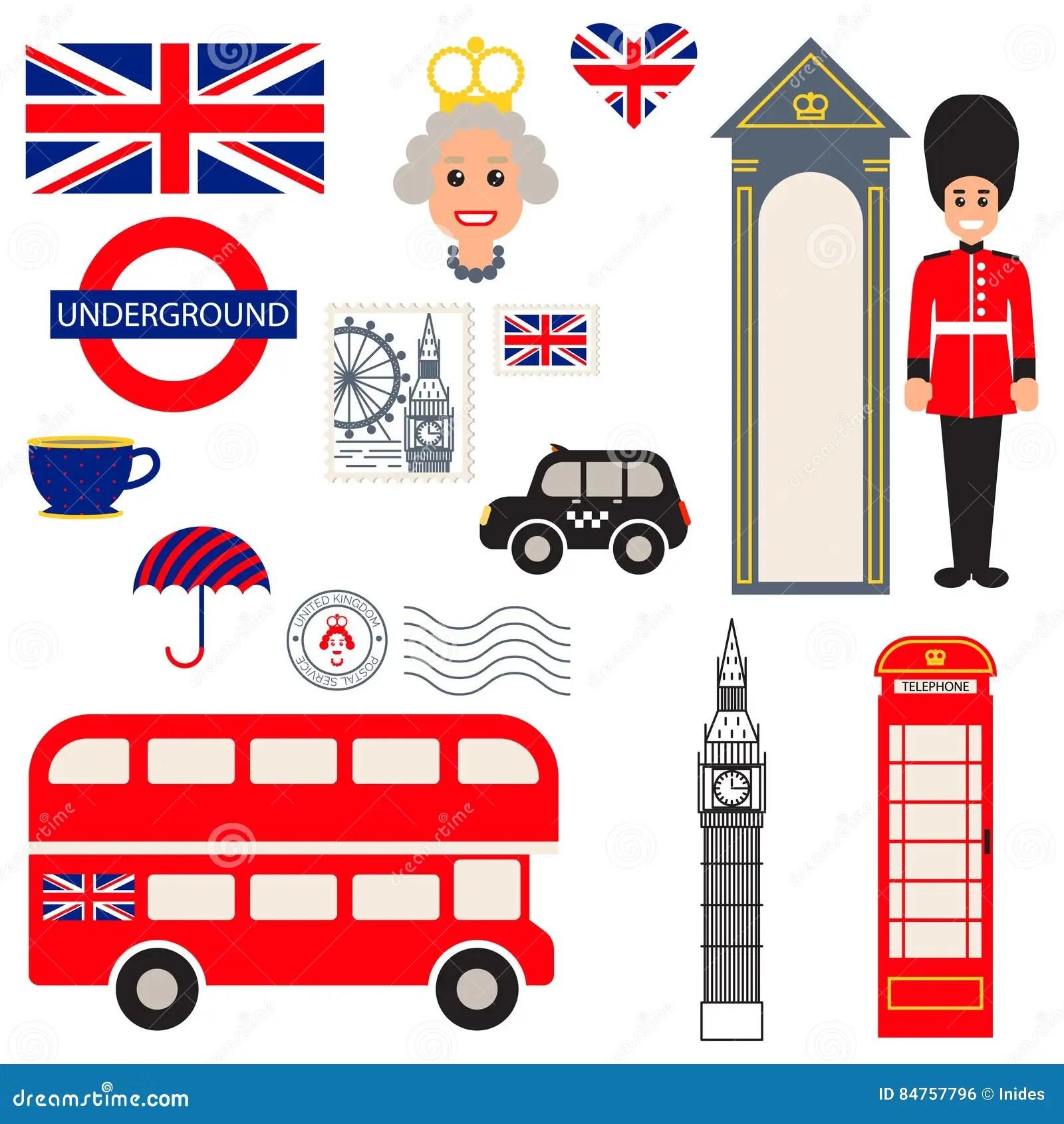 Simbolos Tradicionales Del Vector De Inglaterra Foto