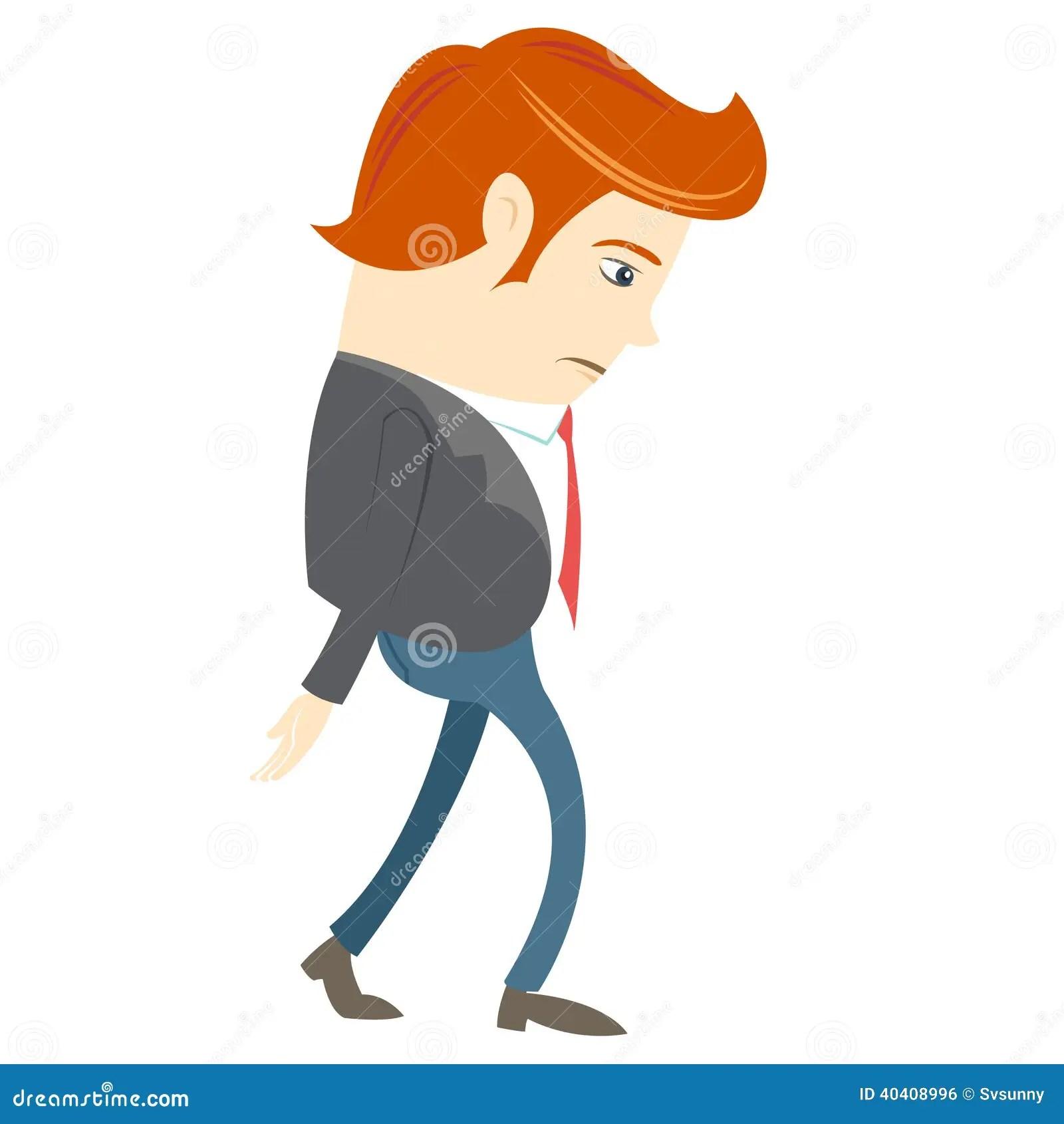 Sad Office Man Stock Illustration Image 40408996