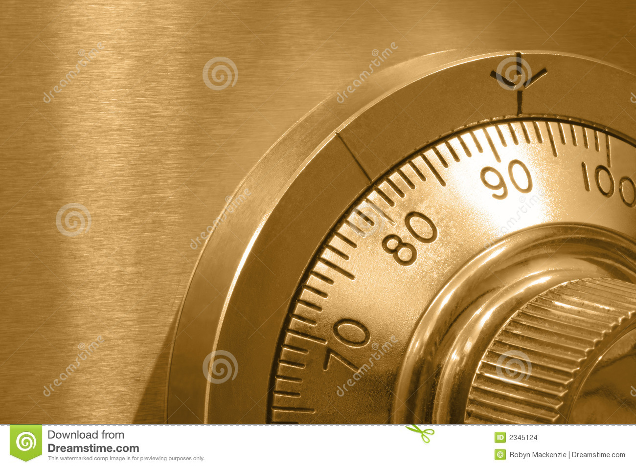 Safe Lock In Gold Stock Images Image 2345124