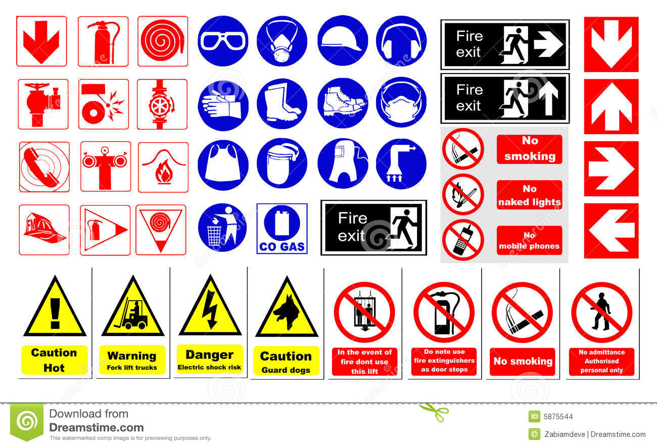 Safety Signs Stock Vector Illustration Of Protective