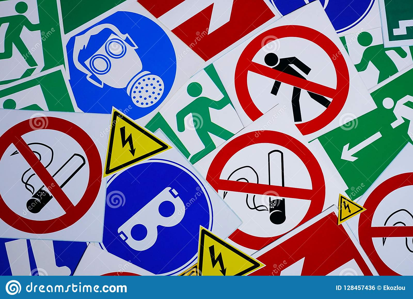 Safety Signs And Symbols Stock Photo Image Of Safety