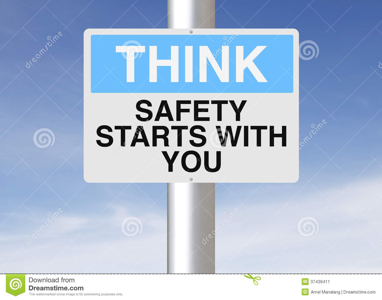 Safety Starts With You Stock Image Image Of Slogan Think