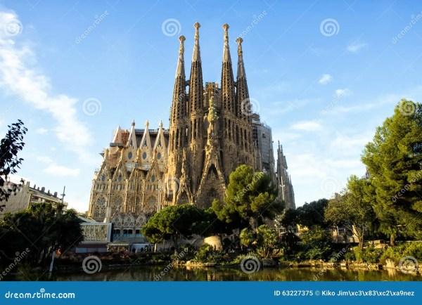 Sagrada Familia In Barcelona, Spain Stock Photo - Image ...