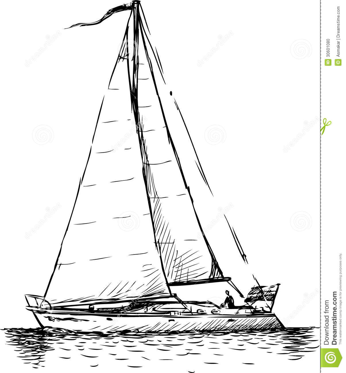 Sailboat Stock Vector Illustration Of Active Three