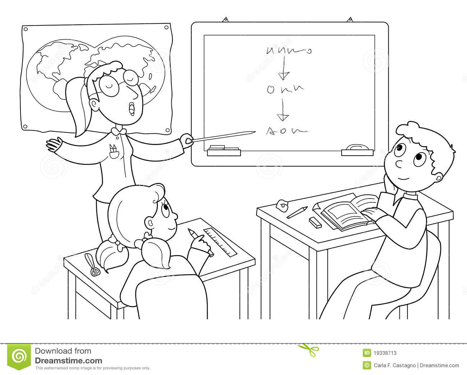 Sala De Clase Ilustracion Del Vector Ilustracion De