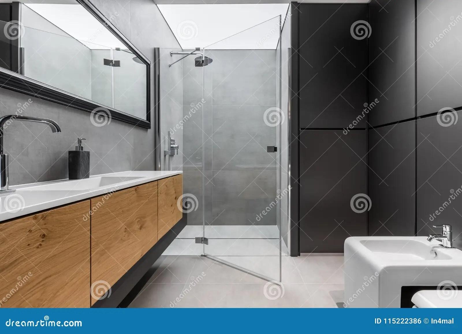 https fr dreamstime com salle bains grise noire image115222386