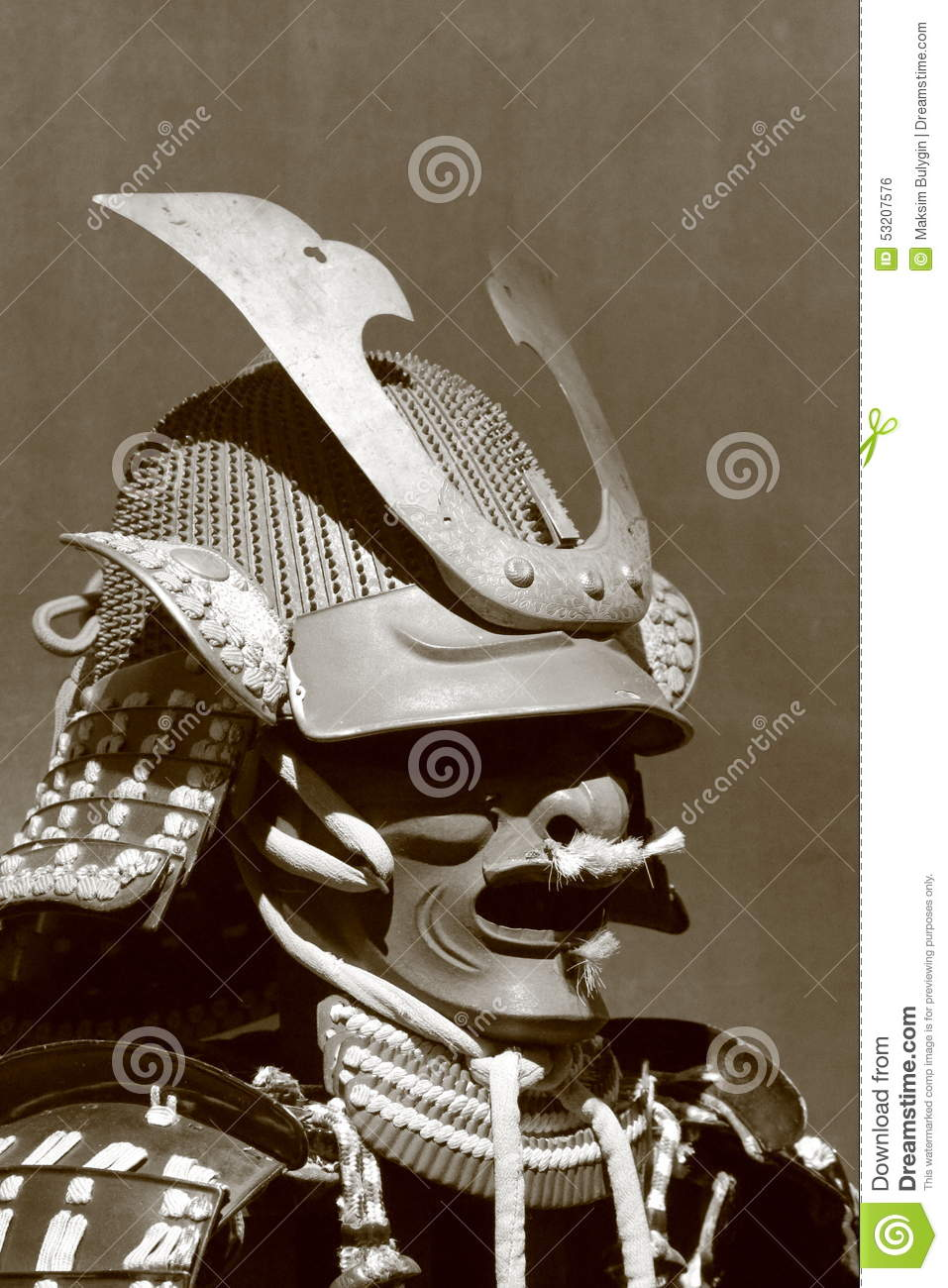 Samurai Armor Stock Photo Image Of Helmet Mask Mempo