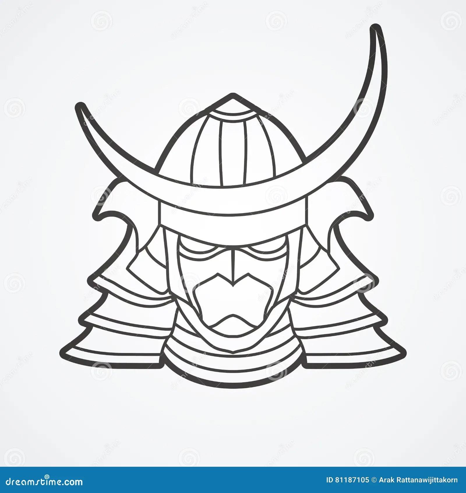 Samurai Warrior Mask Stock Vector Illustration Of Mask