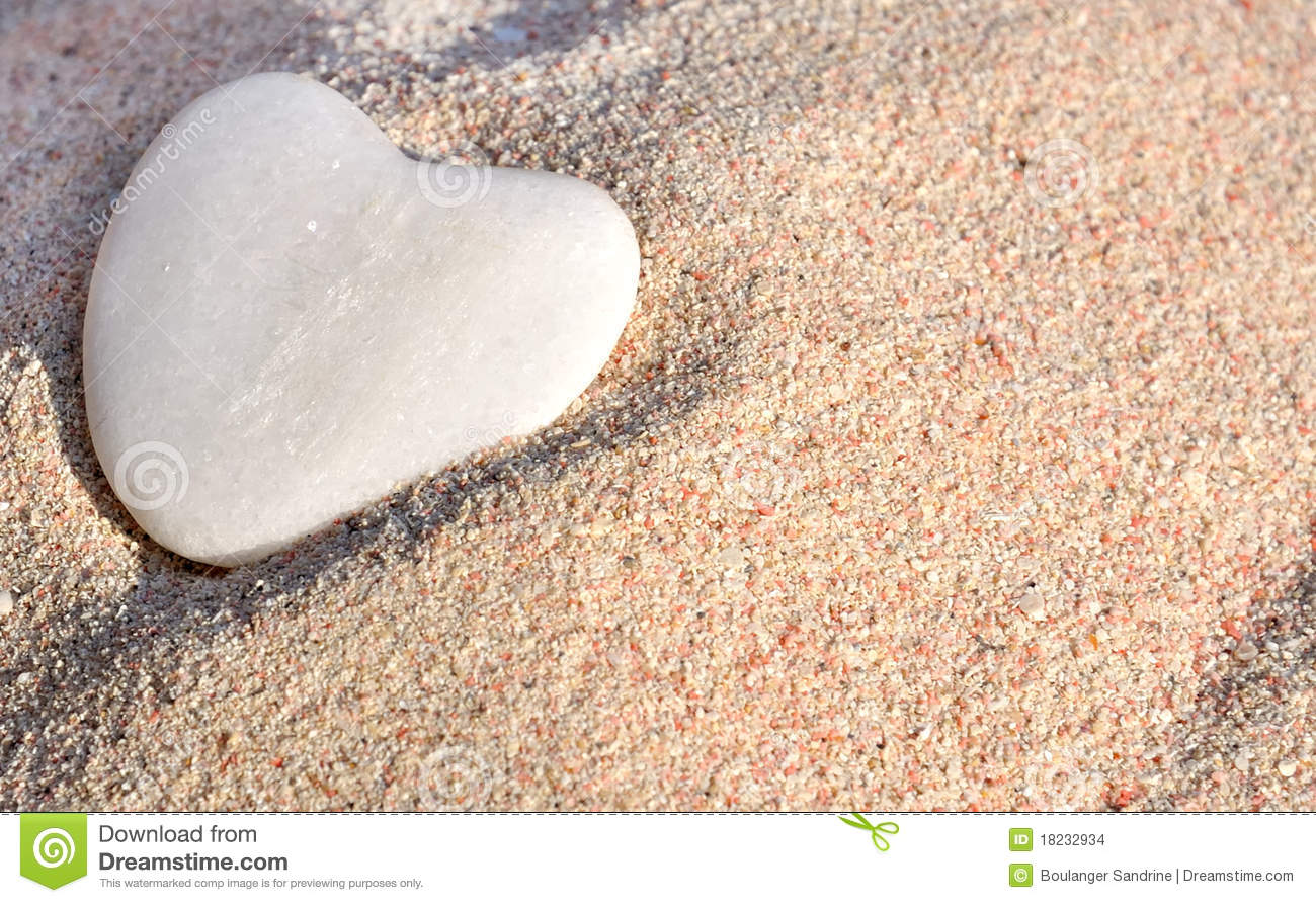 Sand And Stone Heart Stock Photo Image Of Symbol Love