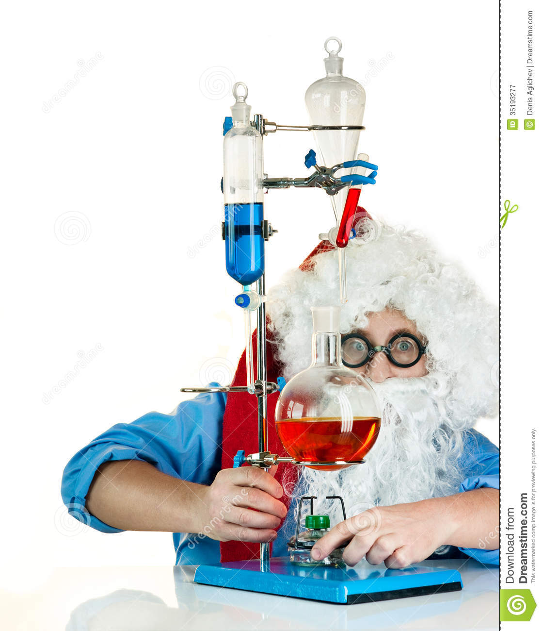 Santa Claus With Flasks Stock Image Image Of Doctor
