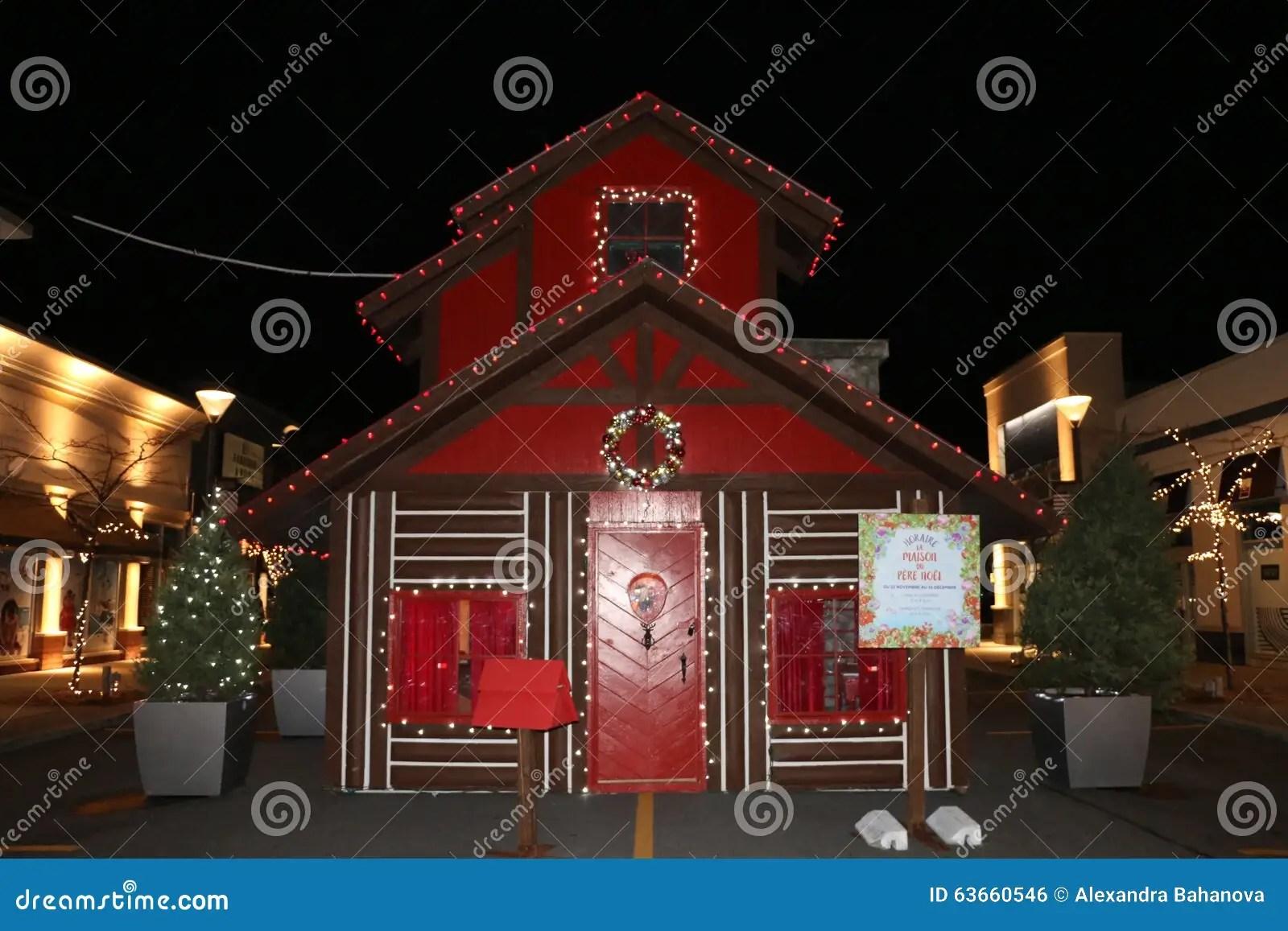 Santa Claus House Lights And Decorations At Dix30
