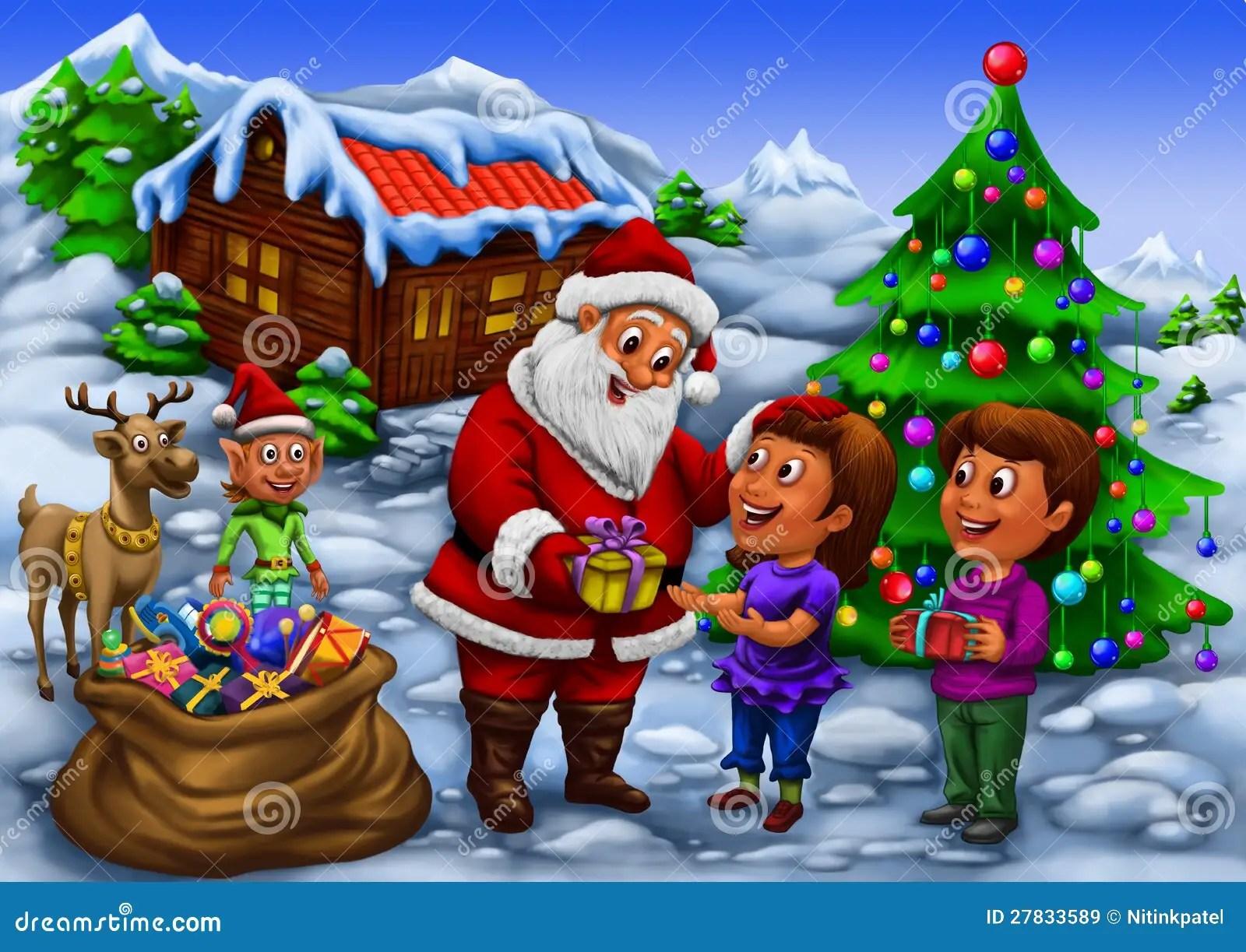 Santa Claus And His Reindeer