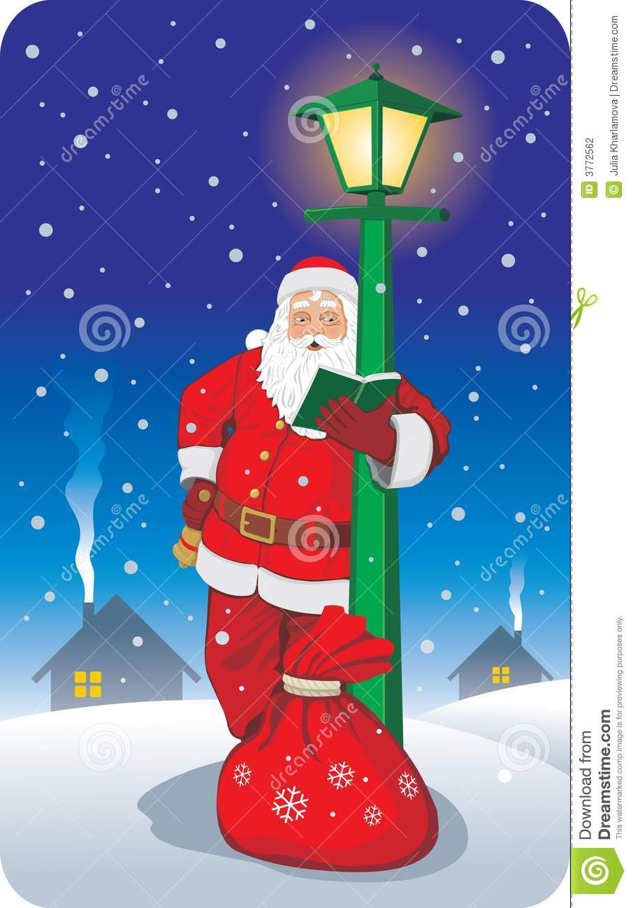 Santa Reading Address Book Stock Photography Image 3772562