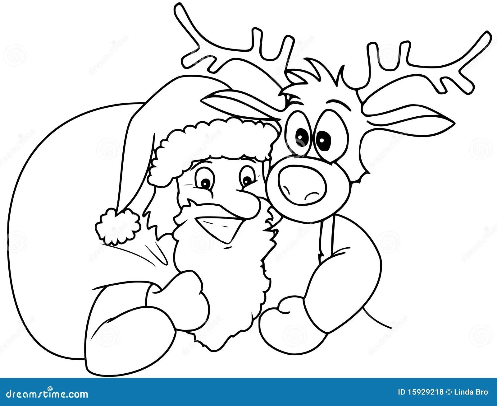 Santa And Rudolph Stock Illustration Illustration Of