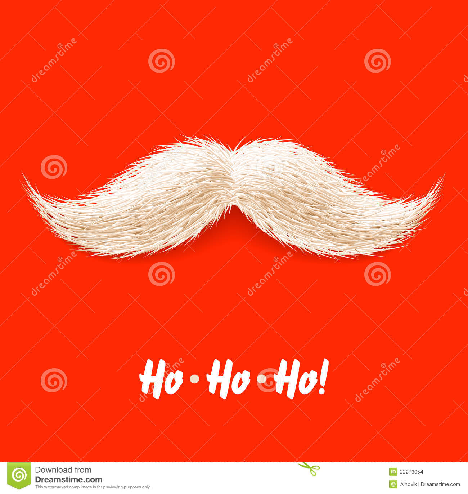Santas Mustache Stock Images Image 22273054