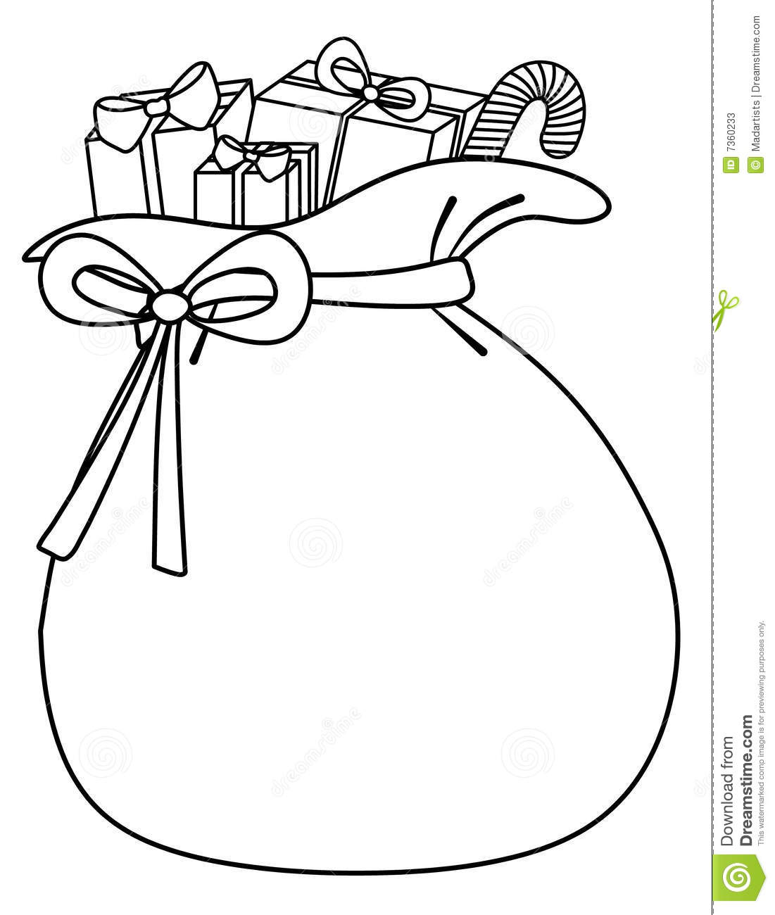 Santa Sack Of Toys Background Stock Illustration