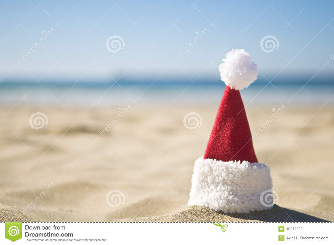 Santa Is On A Summer Holiday Stock Image Image 10372509