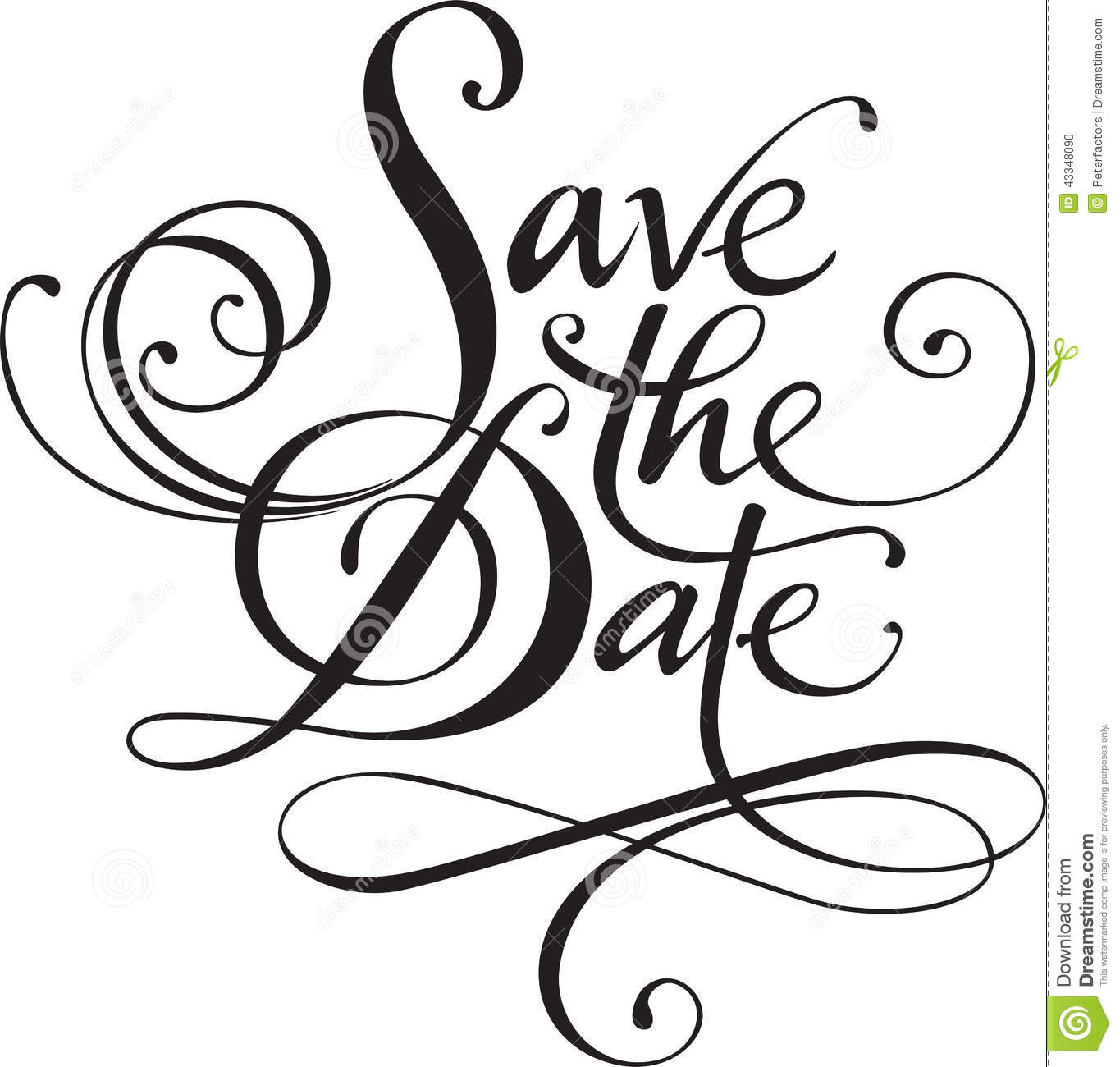 Save The Date Stock Vector Illustration Of Swirl