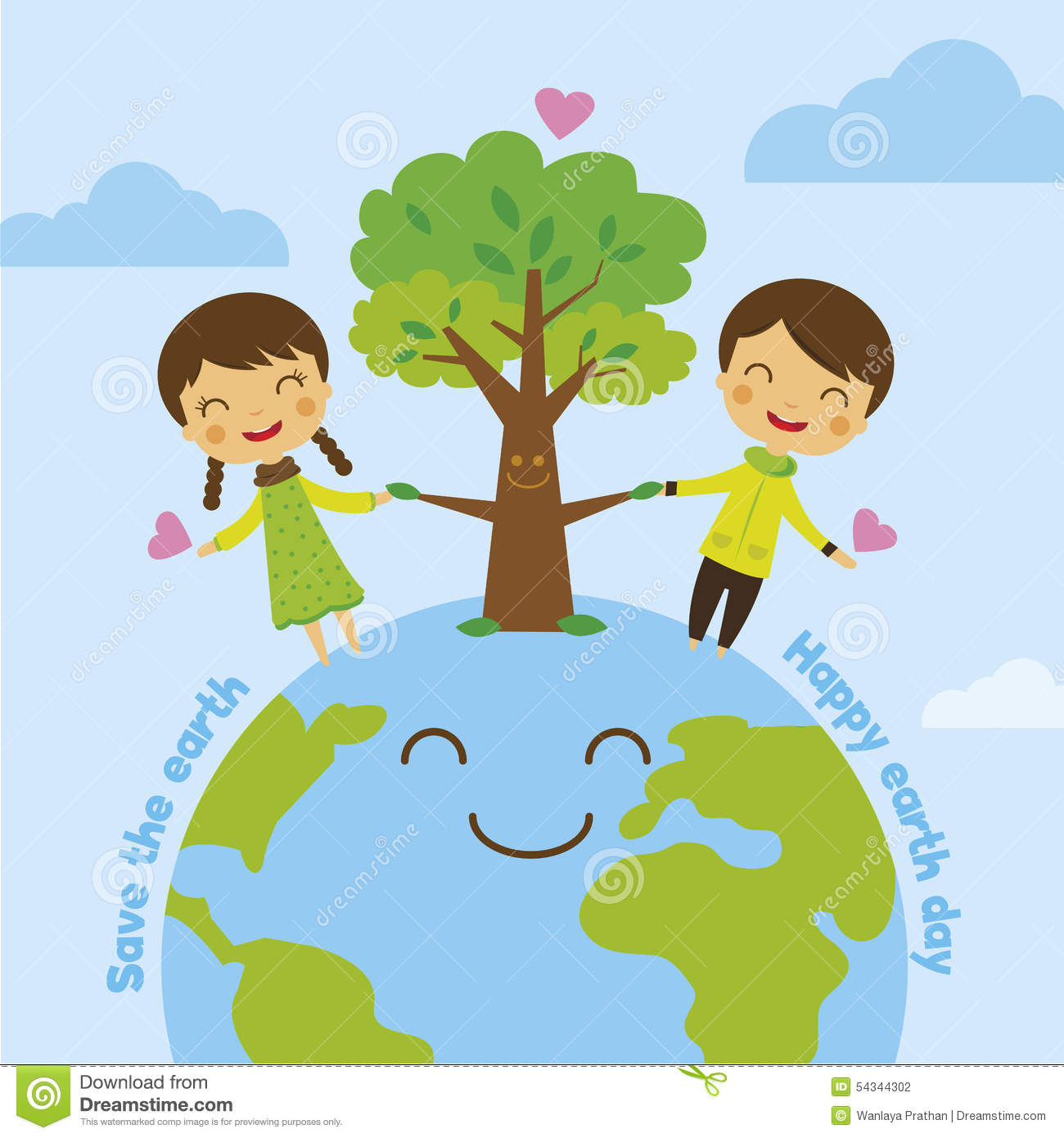 Save The Earth Save World Stock Vector Illustration Of