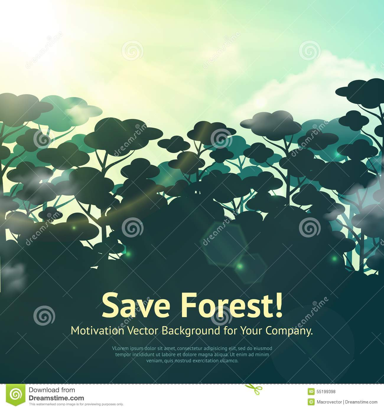 Without water, there is absolutely … Save Forest Illustration Stock Vector Illustration Of Motivation 55199398