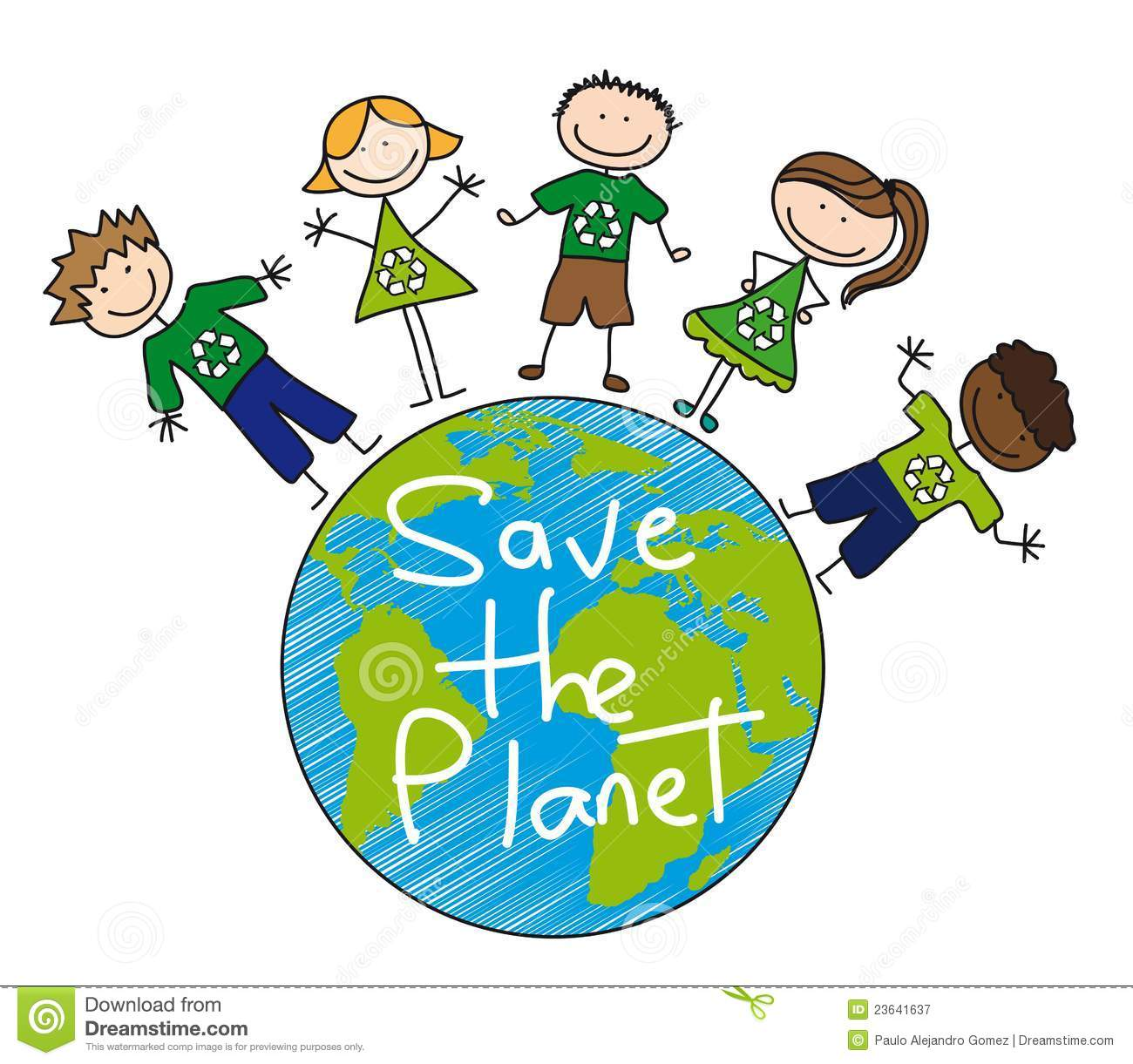 Save The Planet Stock Vector Illustration Of Garbage