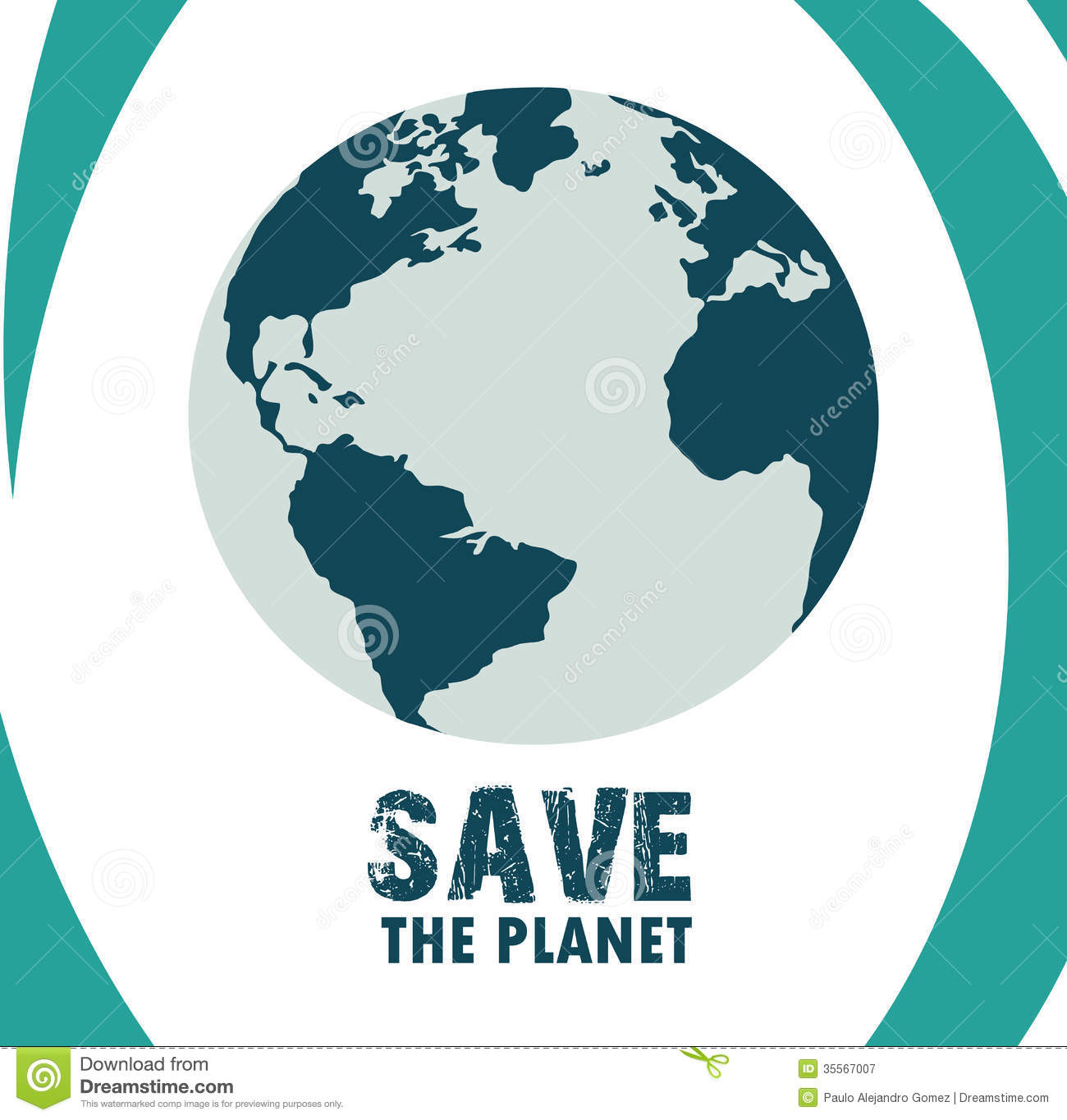 Save The Planet Stock Vector Illustration Of Planet