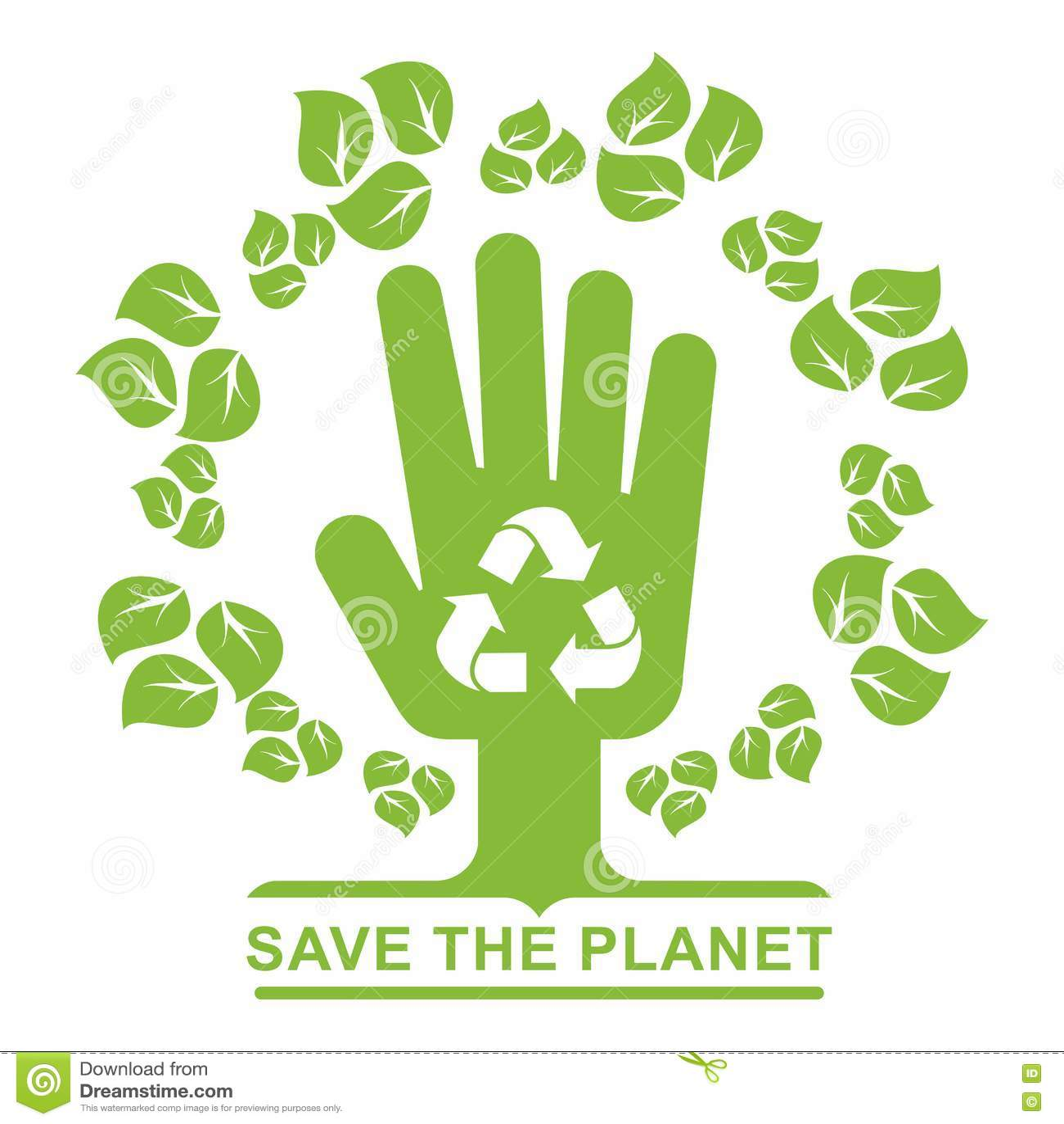 Save Planet Logo Leaves Stock Vector Illustration Of Dark