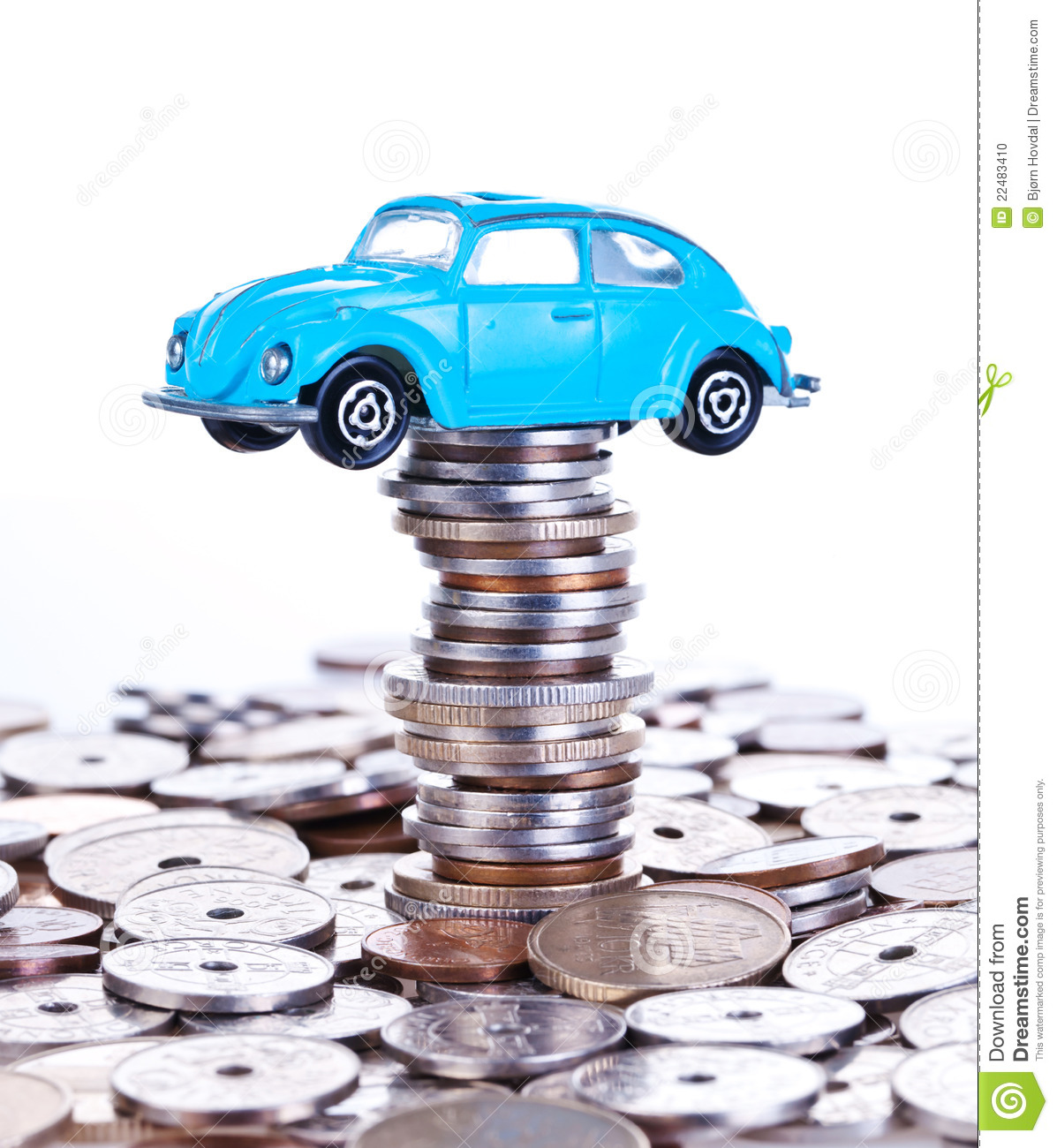 Saving Money For Car Stock Photo Image Of Count Blue