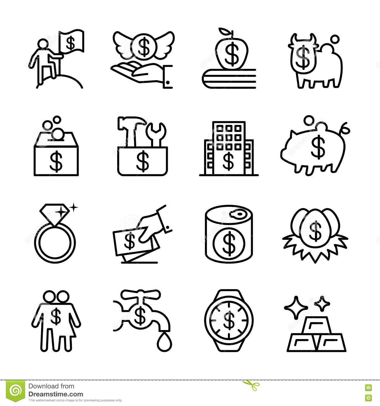 Saving Money Investment Financial Property Icon Stock