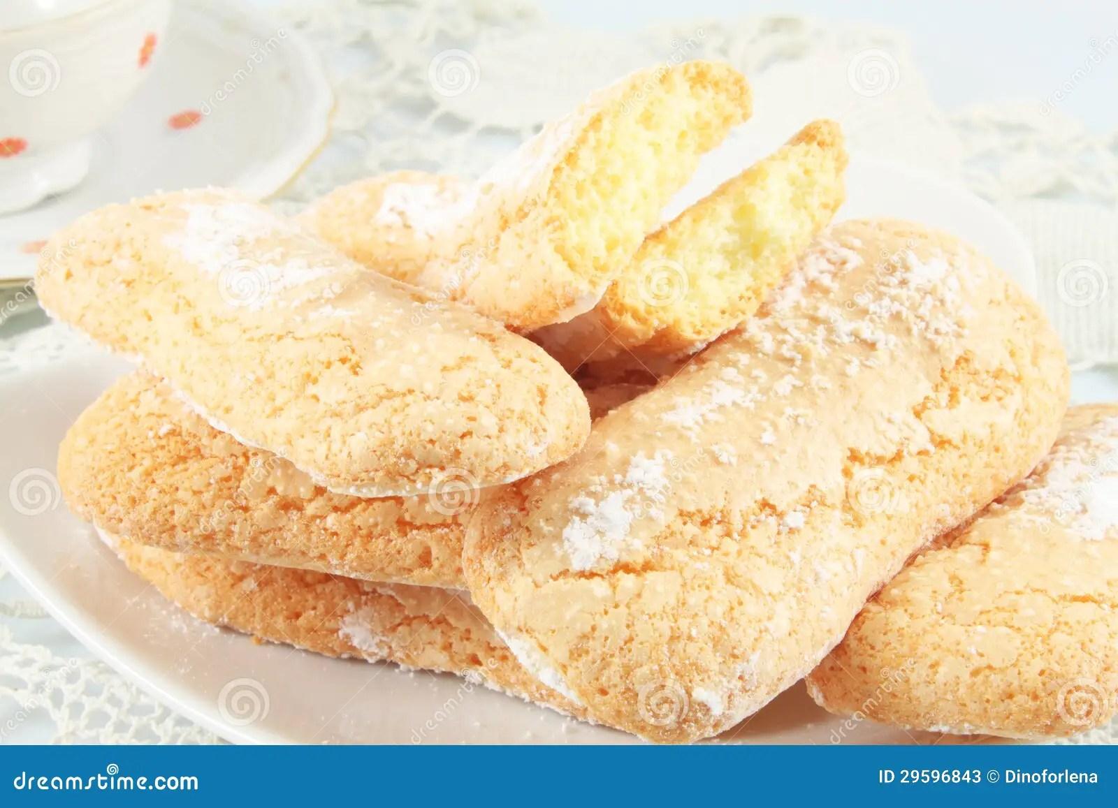 Savoiardi Cookies Ladyfingers Stock Photos Image 29596843