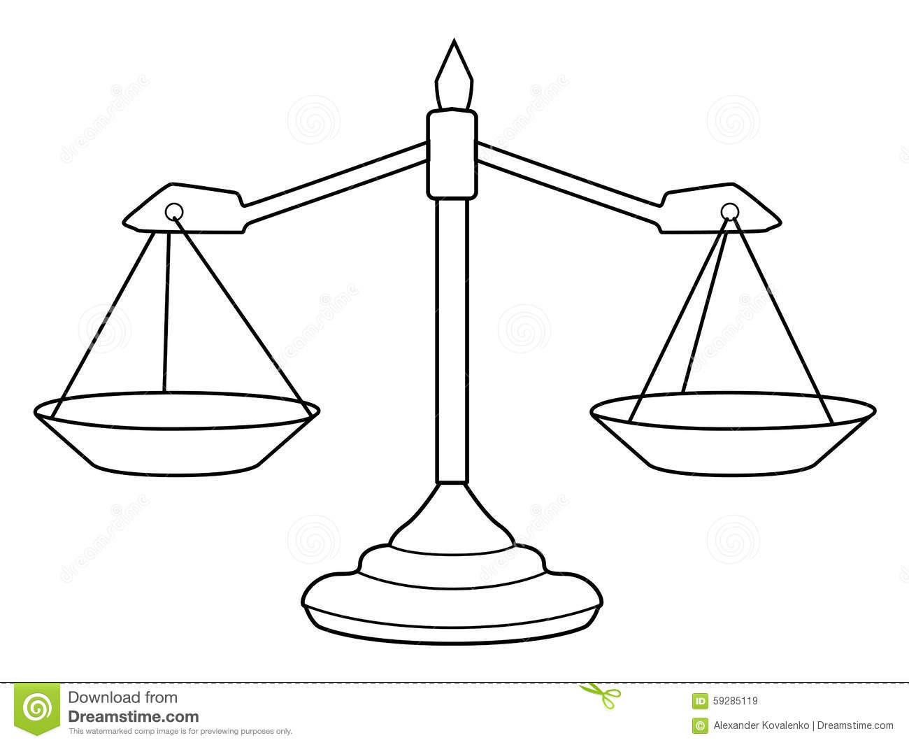 Scales Of Justice Stock Illustration Illustration Of