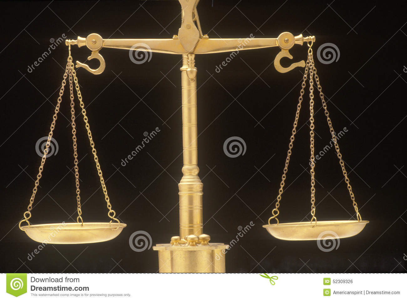 Scales Of Justice Representing The Legal Systems And