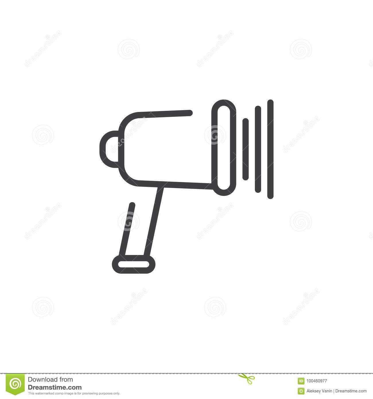 Barcode Reader Icon Flat Style Vector Illustration