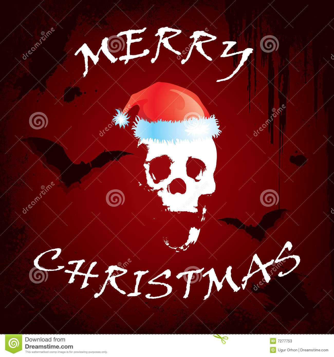 Scary Christmas Greeting Card Stock Vector Image 7277753