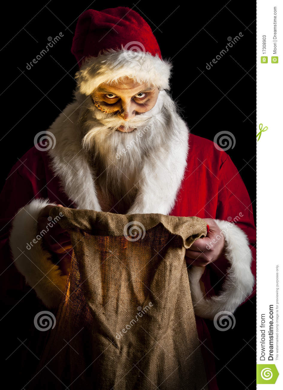Scary Santa Stock Image Image Of Fear Evil Merry Stare