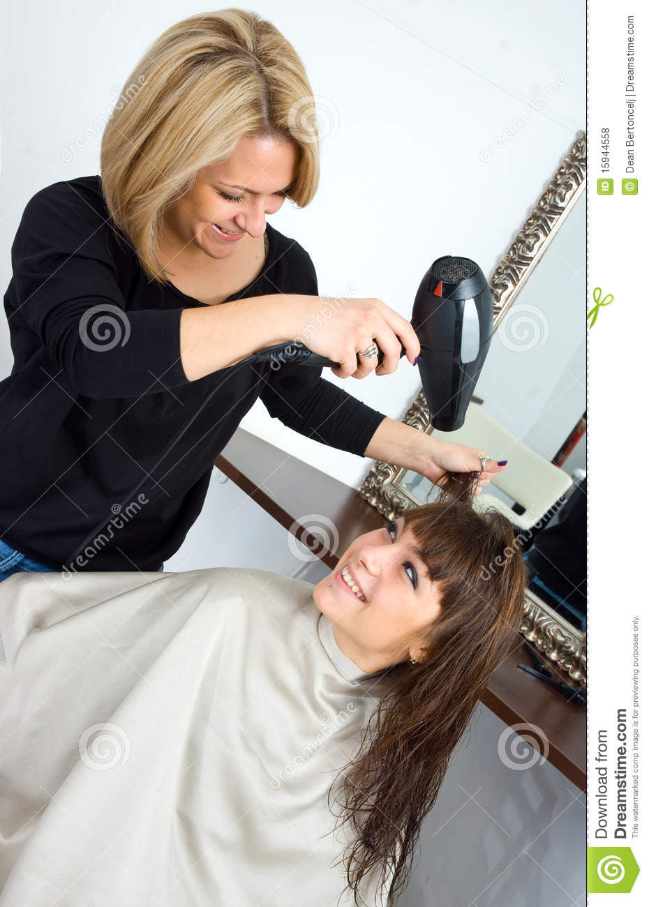 Scene In Hair Salon Stock Photo Image Of Hairdressing