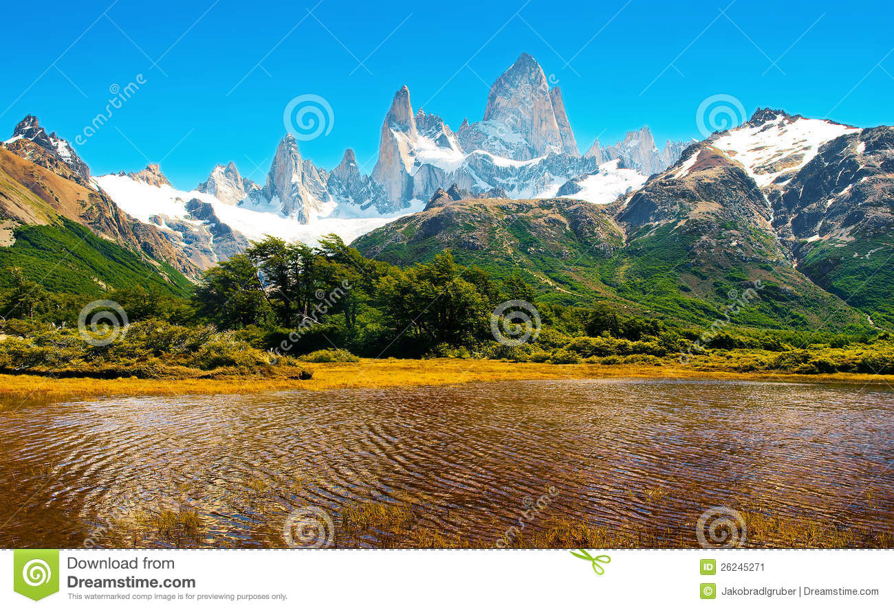 Scenic Landscape In Patagonia South America Stock Image